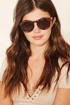 Forever21 Leopard Print Round Sunglasses