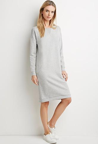 Love21 Heathered Sweatshirt Dress