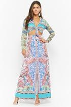 Forever21 Tie-front Cutout Maxi Dress