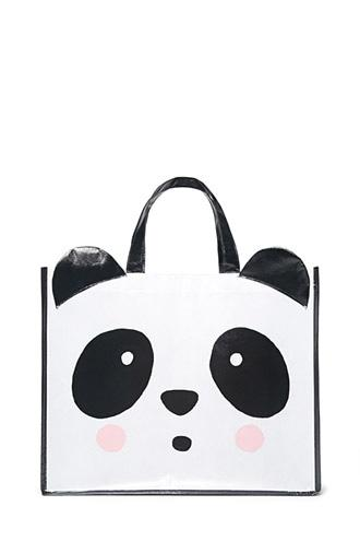 Forever21 Glossy Panda Eco Tote