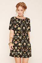 Love21 Women's  Floral Print Shift Dress