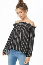 Forever21 Ruffled Striped Top