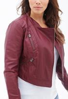 Forever21 Plus Size Faux Leather Moto Jacket