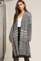 Forever21 Striped Boucle Knit Duster Cardigan