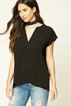 Forever21 Textured Woven Top