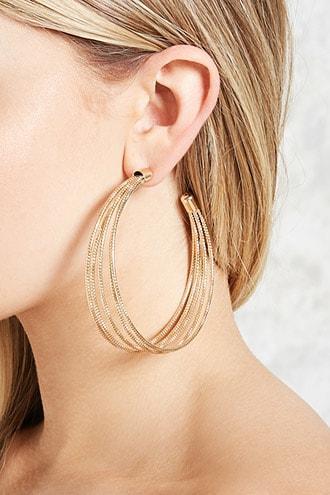 Forever21 Stacked Hoop Earrings