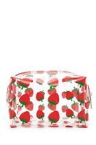 Forever21 Strawberry Print Makeup Bag