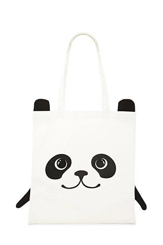 Forever21 Panda Graphic Eco Tote