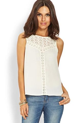 Love21 Crochet Lace Top