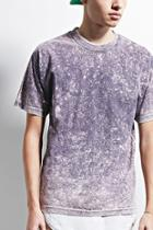 21 Men Men's  Purple Eptm. Mineral Wash Boxy Tee
