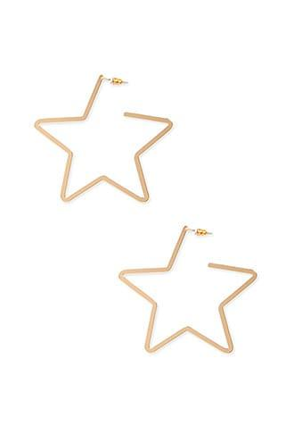 Forever21 Star Hoop Earrings