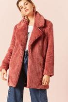 Forever21 Ribbed Faux Fur Jacket