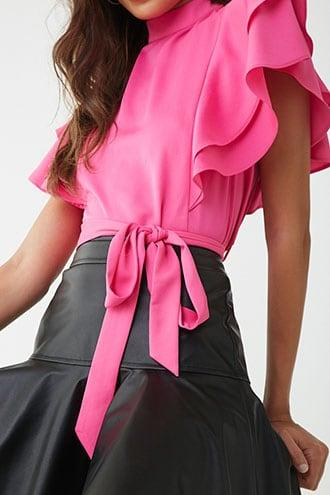 Forever21 Flounce Belted Top