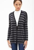 Forever21 Striped Oversized Cardigan