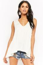 Forever21 Plunging Shirred Top