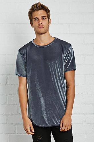 21 Men Men's  Grey Eptm Velour Tee
