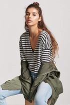 Forever21 Cropped Stripe Tee