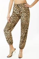 Forever21 Leopard Print Wind Pants