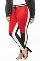 Forever21 Plus Size Colorblock Track Pants