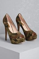 Forever21 Faux Suede Camo Heels