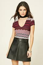 Forever21 Abstract Geo Scoop Top