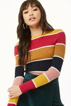 Forever21 Colorblock Crew Neck Sweater