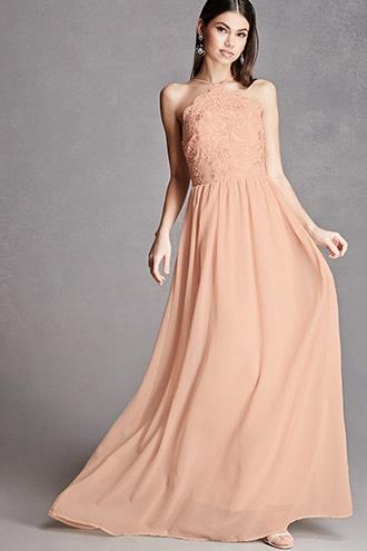 Forever21 Soieblu Tulle Maxi Dress