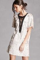 Forever21 Crushed Velvet Lace-up Dress