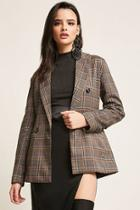 Forever21 Plaid Double-breasted Blazer