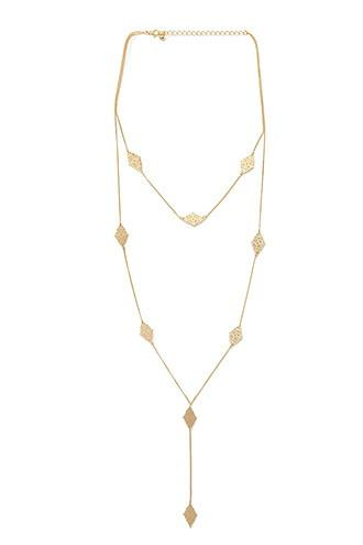 Forever21 Layered Drop Chain Necklace