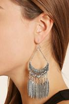 Forever21 Etched Fringe Drop Earrings