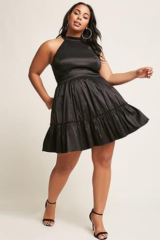 Forever21 Plus Size Iridescent High-neck Dress