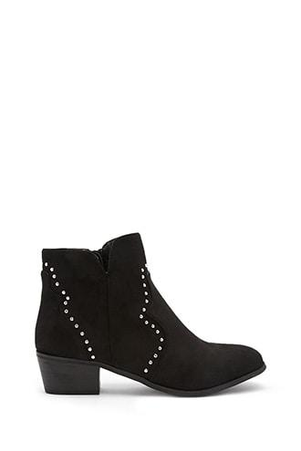 Forever21 Yoki Studded Ankle Boots