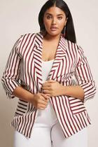 Forever21 Plus Size Stripe Blazer