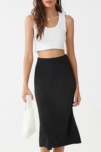 Forever21 High-rise Midi Skirt