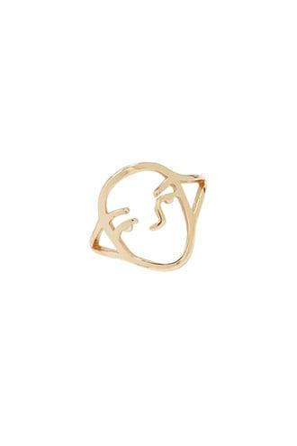 Forever21 Cutout Face Ring