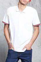Forever21 Stripe Trim Polo Shirt
