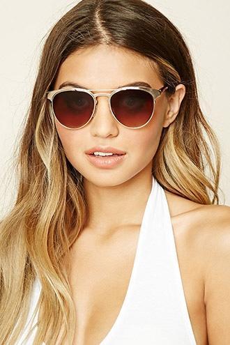 Forever21 Metal Aviator Sunglasses