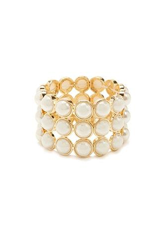 Forever21 Faux Pearl Stretch Bracelet