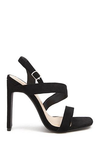 Forever21 Faux Suede Asymmetrical Heels