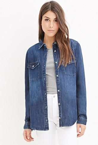 Love21 Classic Denim Shirt