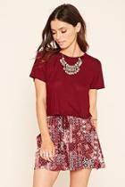 Forever21 Ornate Drawstring Skirt