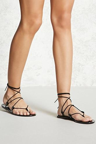 Forever21 Jelly Wrap Sandals