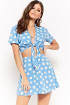 Forever21 Motel Flower Print Mini Skirt