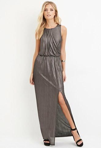 Love21 Metallic Maxi Dress