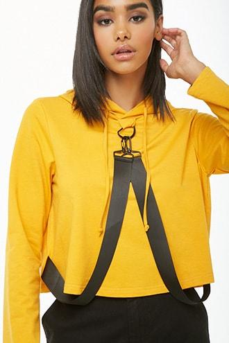 Forever21 Dual-strap Hooded Top