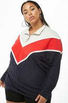Forever21 Plus Size Colorblock Pull-ring Pullover