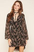 Love21 Women's  Contemporary Paisley Dress