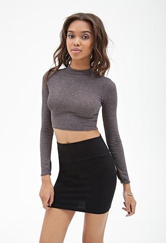 Forever21 Bodycon Knit Mini Skirt