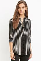 Forever21 Drapey Striped Shirt